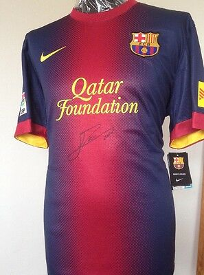 FC Barcelona Shirt Signed By Lionel Messi With Letter Of Guarantee