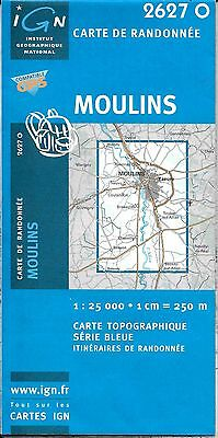 Map of Moulins, France, by IGN Map #2627 O
