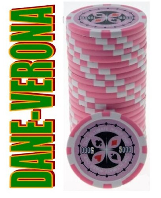 BLISTER da 25 Fiches/Chips 14 gr. mod. ULTIMATE POKER Valore 5.000