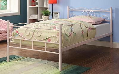 Bailey Youth Pink Finish Metal Twin Bed by Coaster 400030T