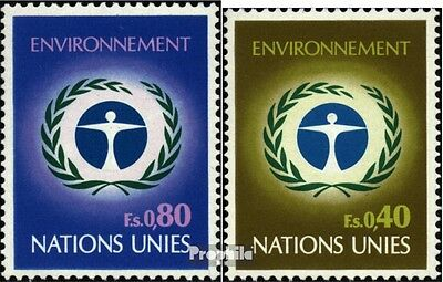 UN-Geneva 25-26 (complete issue) unmounted mint / never hinged 1972 Environment