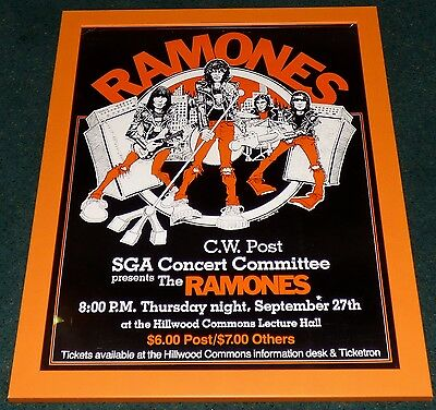 Ramones 1979 Original Live Concert Poster Hillwood Commons Road To Ruin