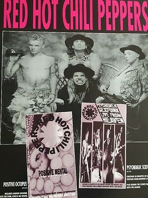 Red Hot Chili Peppers Positive Octopus Rare Promo Only Poster 1990
