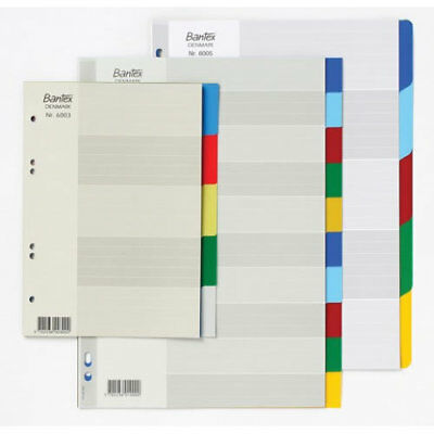Bantex 5 Tab Divider A5 Polypropylene Coloured Tabs