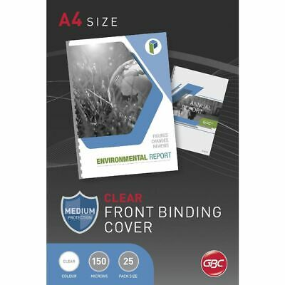 GBC Presentation Binding Covers A4 150 Micron 25 Pack Clear