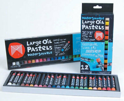 Micador Large Water Soluble Colour Oil Pastels - 24 Pack