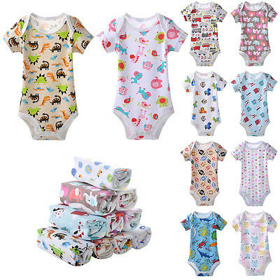 Baby Romper Jumpsuit Outfit Boy Girl Cotton ShortSleeve Triangle Clothing RD