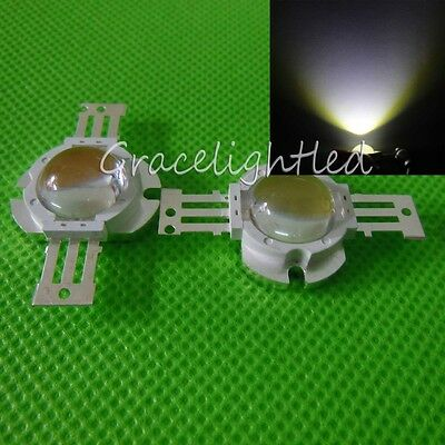 1pc 10W High Power Cool white 10000-15000K LED Bead lamp chip with 60 degree len