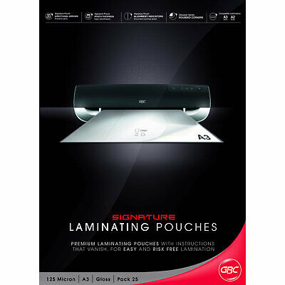 GBC Laminating Pouches Signature A3 125mic 25 Pack