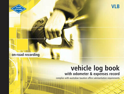 Zions VLB Vehicle Log Book with Odometer & Expenses Large - VLB