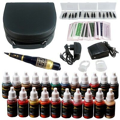 Solong Tattoo Tatouage Kit Maquillage Stylo Sourcil lèvre machine Encre EK708