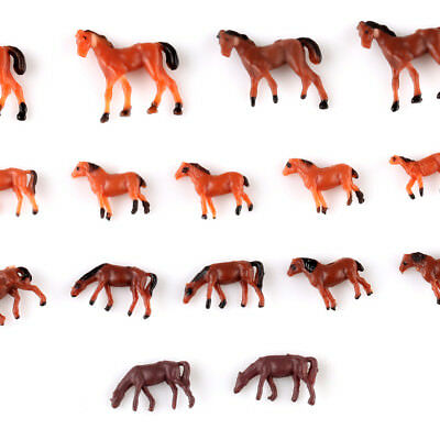 20 X 1:150 Well Painted Farm Animals Horses N Scale
