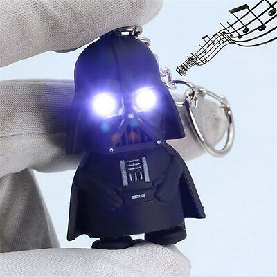 Cool Light Up LED Star Wars Darth Vader With Sound Keyring Keychain Gift New TR