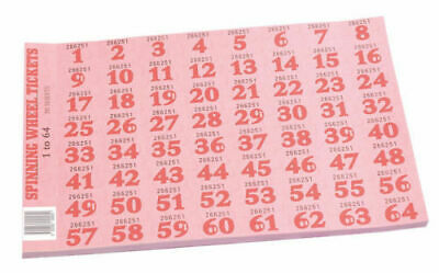 Chocolate / Spinning Wheel Tickets 1-64 Pad
