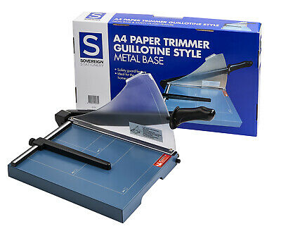 Sovereign Paper Trimmer Guillotine Style A4 Metal Base