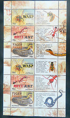 Australian Decimal Stamps: 2014 Things That Sting Special Mini Sheet MNH