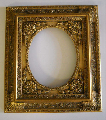 Picture Frame- Oval Antique Ornate Bright & Dark Gold Classic Old Style 8 x 10