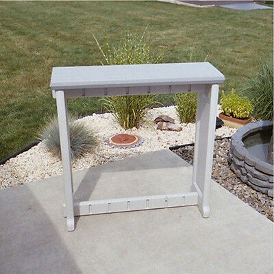 """Leisure Accents Hot Tub Spa Patio Deck Bar Counter 36"""" High 36"""" Long Gray/Beige"""