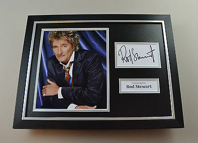 Rod Stewart Signed Photo Framed 16x12 Music Autograph Display Memorabilia + COA