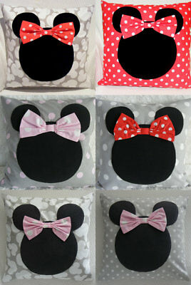 Mickey mouse pillow and cushion cover,black,white,baby gift,handmade,kids