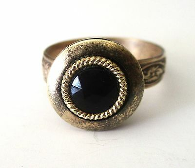 Victorian Adjustable Button Ring