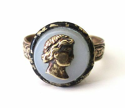 Antique Adjustable Button Ring