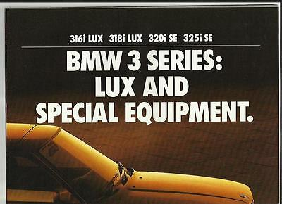 ++ Reduced ++ Bmw 3 Series E30 Lux & Special Equipment Car Brochure 1990