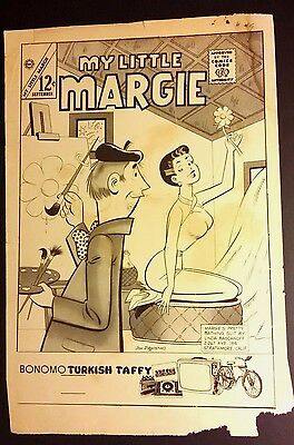 My Little Margie Comic Cover Production Proof ~ BW Blank Back WH