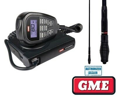 Gme Tx3350 80Ch 5W Uhf Lcd Speaker Mic Radio + Ae4705 Black Antenna + Cable Pack
