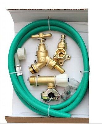 Brass Outdoor Garden Tap Kit Connector Fittings Nozzle Hose Pipe External Set
