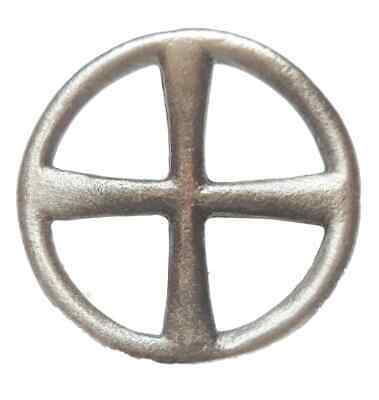 Celtic Sun Cross Handcrafted From English Pewter Lapel Pin Badge + Gift Bag