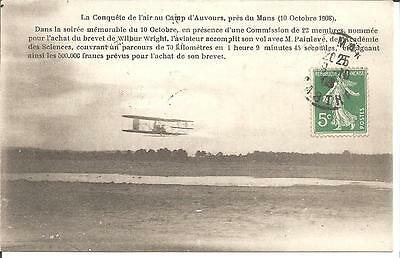 Dept 72 Pres Du Mans Carte Postale Ancienne Aviation  1908 Camp D Auvours