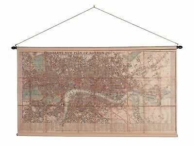 Map london map historic roll map antique style wall map reproduction by cruchley