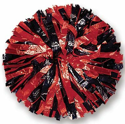 "00035BA One (1) Cheerleading Pom Poms, 6"" 2-Color Mix Wet Look"