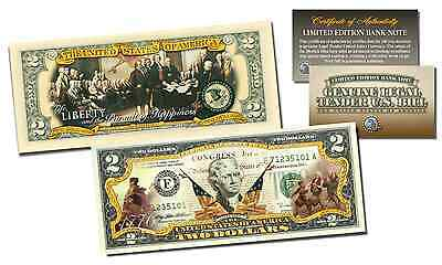 1776-'16 DECLARATION OF INDEPENDENCE 240th ANNIV Legal Tender US $2 Bill 2-SIDED