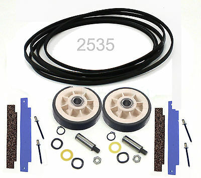NEW Dryer Maintenance Kit for Maytag 33002535 306508 12001541 Belt Rollers