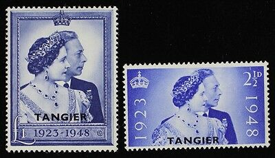 WD64 MOROCCO AGENCIES Tangier 1948 GEORGE VI SILVER WEDDING MINT VLH