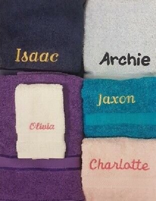 PERSONALISED TOWELS Embroidered Towel with Name Great Gift