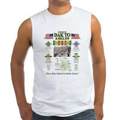 The Battle Of Dak To & Hill 875 South Vietnam U.s. Military Sleeveless  Shirt