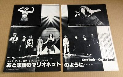 1979 Kate Bush 2pg 3 photo on stage JAPAN mag feature vintage clippings cuttings