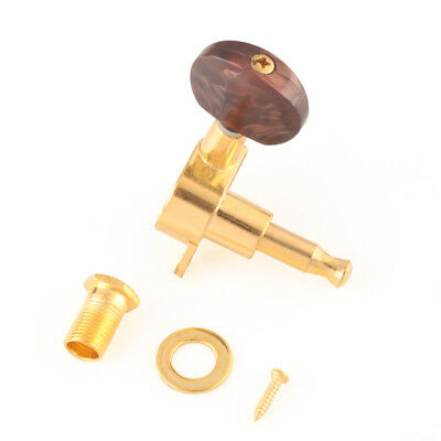 3R3L Electric Guitar Sealed Tuning Keys Pegs Machine Heads Tuners Gold Brown