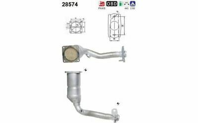 AS Catalyseur 28574 pour Peugeot 206 CC 206 3/5 Portes 206 SW
