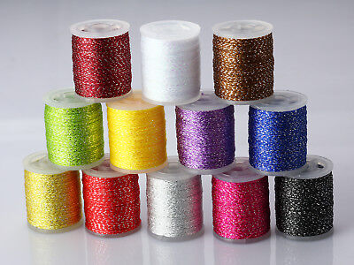 Iridescent Thread Fly Tying Rib Materials 12 Colors Available