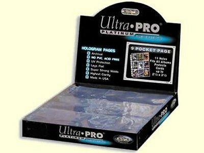 50 Ultra-PRO Platinum Holo 9 Pocket Sports Card Sheets NO PVC - UV PROTECTION