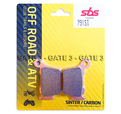 Husqvarna TC125 TC 125 2014-2019 SBS 791SI Sintered Competition Rear Brake Pads