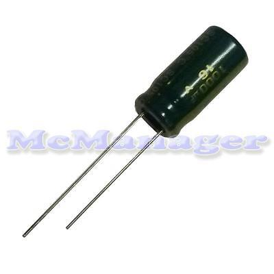 1000uF16V  Low ESR Low Impedance Electrolytic Radial Capacitor 10x15mm20% 105°C