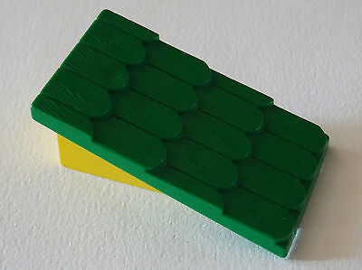 Lego fabuland 787 x 4 tile green green roof slope red red 3679 3660 1516 f19