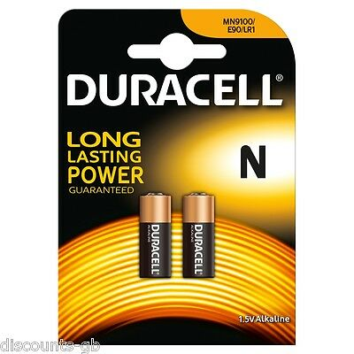 2 x DURACELL MN9100 LR1 BATTERY 9100 KN N e90 Type 1.5v  GARAGE REMOTE CAR ALARM