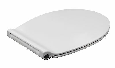 Luxury White Slow Soft Close SLIM Toilet Seat Heavy Duty Quick Release WC Hinges