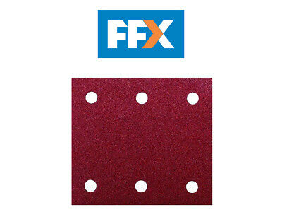 Makita P-33093 Palm Sander Sheets 102mm x 114mm Red 60 Grit Pack of 10